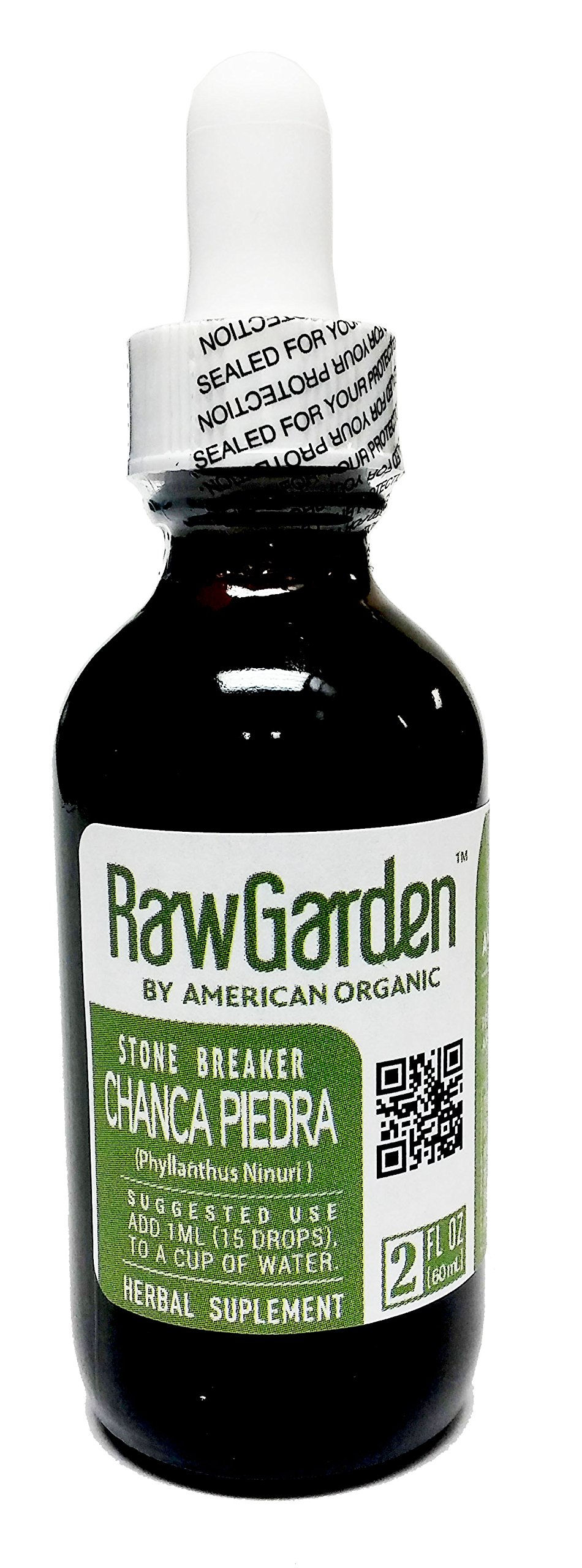 Raw Garden Chanca Piedra 2 oz Extract (stone Breaker) liquid Glass Amber Bottle.