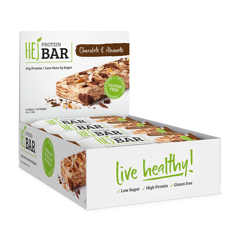 HEJ Protein Bar / Hejbar - Chocolate & Almond / 1er Pack (12 x 60 g ...