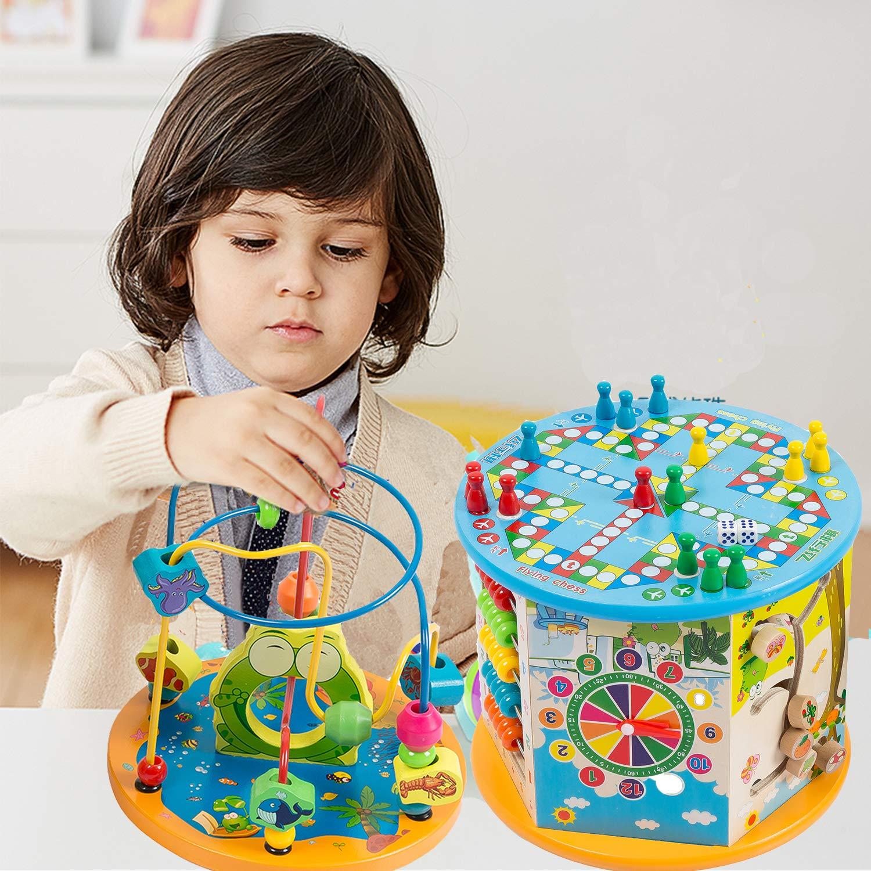 Amazon.com: Jamohom - Cubo de actividades para niños, de ...