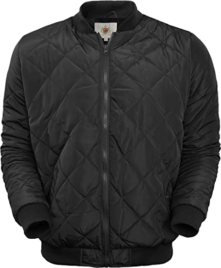 Ma Croix Mens Premium Quilted Bomber Jacket Padding Outdoor
