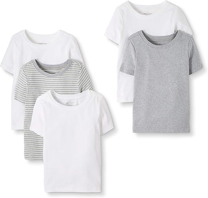 Moon and Back de Hanna Andersson - Pack de 5 camisetas de algodón ...