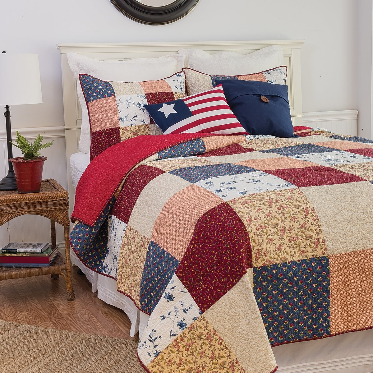 Liberty Patchwork Americana Quilt Set (King) by C&F Home
