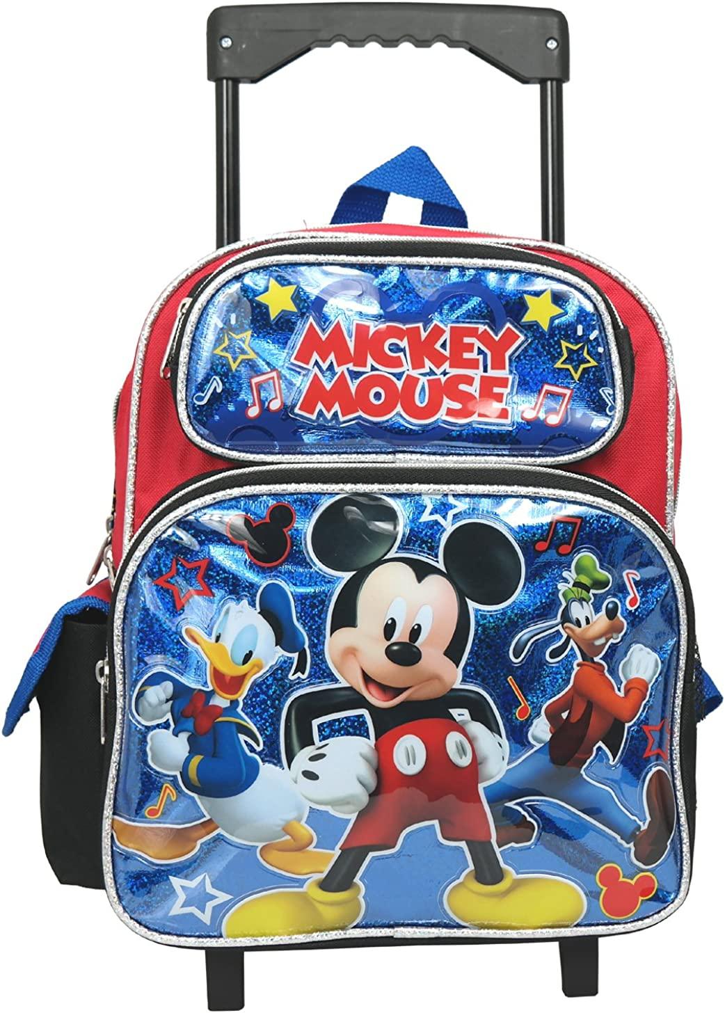 """Mickey Mouse Backpack 12/""""  Rolling Backpack Roller"""