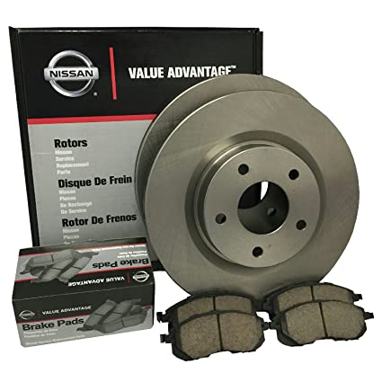 Genuine Nissan VA Front Brake Pad U0026 Rotor Kit 2007 2012 Nissan Altima Sedan