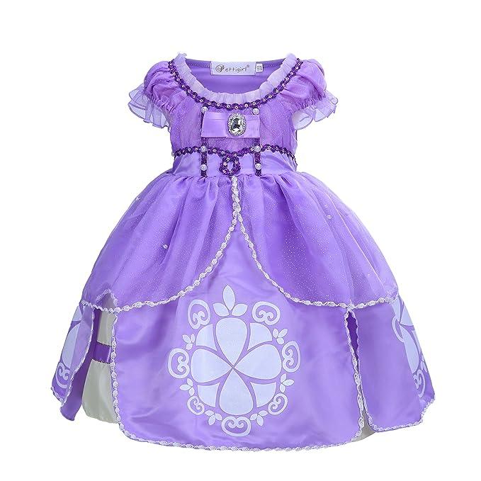 22a2cbc75 Pettigirl Niñas Traje Princesa de Fantasía Vestido de Fiesta de Halloween  Cosplay 4-10 Años: Amazon.es: Ropa y accesorios