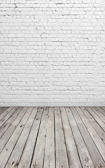 Huayi 4 X6 White Brick Wall With Gray Wooden Floor Photography Backdrop Vinyl Background For Pictures D 2504 Camera Photo
