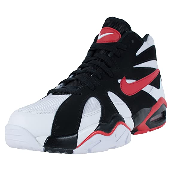 on sale 37b4c 60dfb Amazon.com Nike Mens Air Diamond Fury 96 WhiteUniversity Red-Black Leather  Running ...