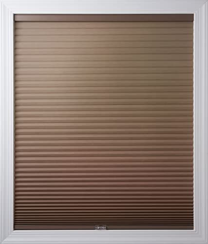 New Age Blinds Light Filtering Inside Frame Mount Cordless Cellular Shade, 34-1 4 x 72-Inch, Warm Cocoa