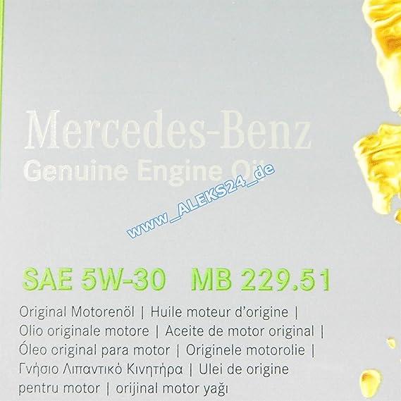 Aceite Motor Original Mercedes Benz 229.51 5W30 1 litro: Amazon.es: Coche y moto