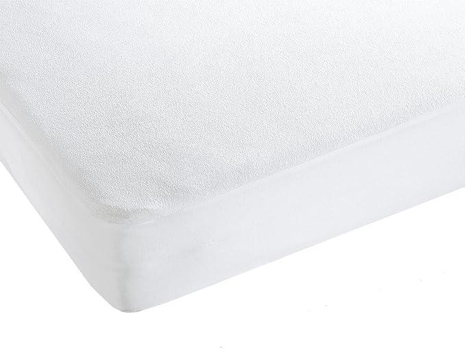 ZOLLNER Matratzenschoner wie Spannbettlaken, wasserdicht, weiß, 90x200 cm