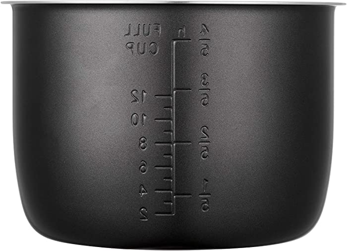 """""""GJS Gourmet Non-Stick Inner Pot Compatible with Cuisinart Pressure Cooker CPC-600, CPC-600N1, CPC-900, and EPC-1200 (6 Quart, Nonstick)"""". This pot is not created or sold by Cuisinart."""