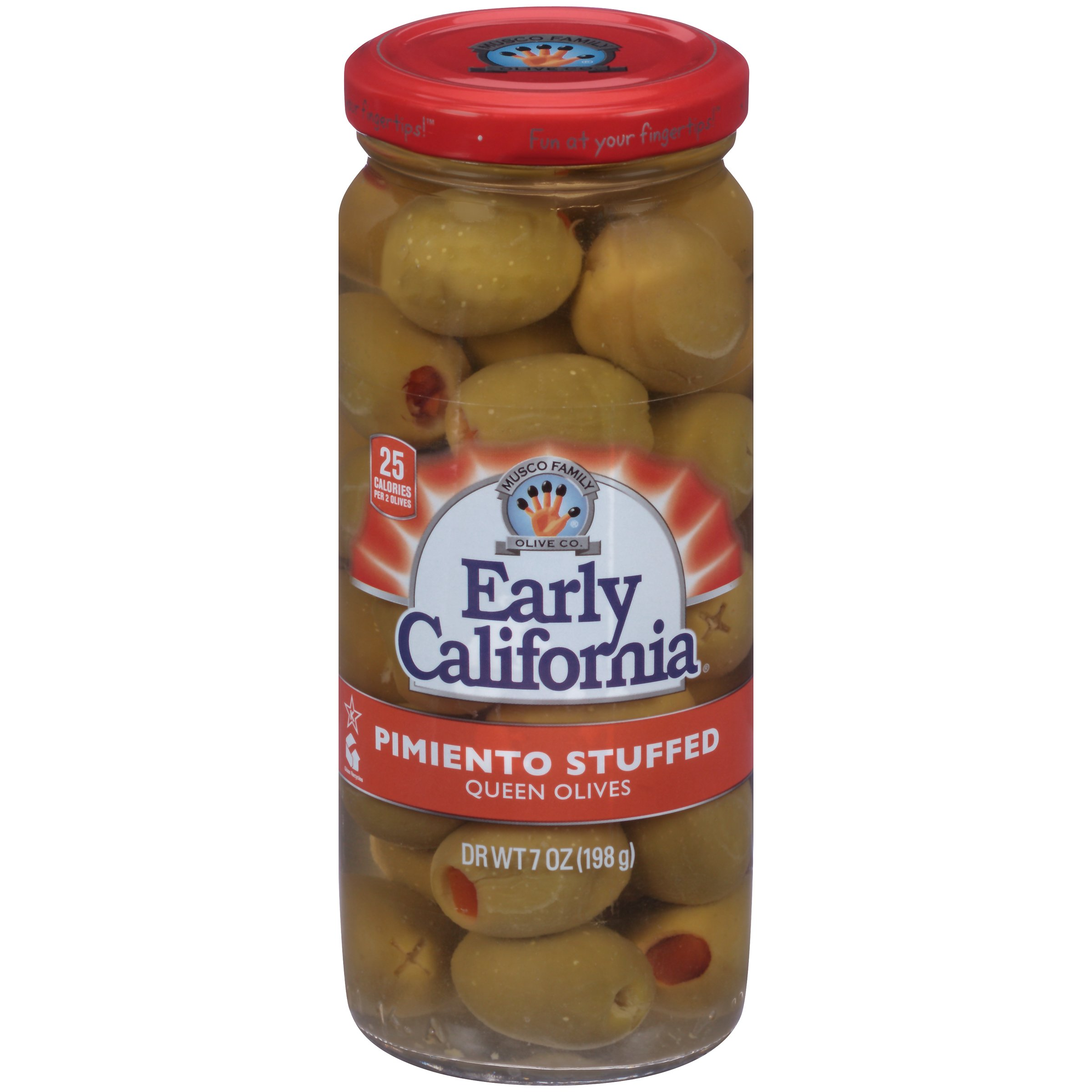Early California (6) 7oz Pimiento Stuffed Queen Olives