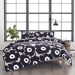 Marimekko Unikko Comforter Set, King, Grey