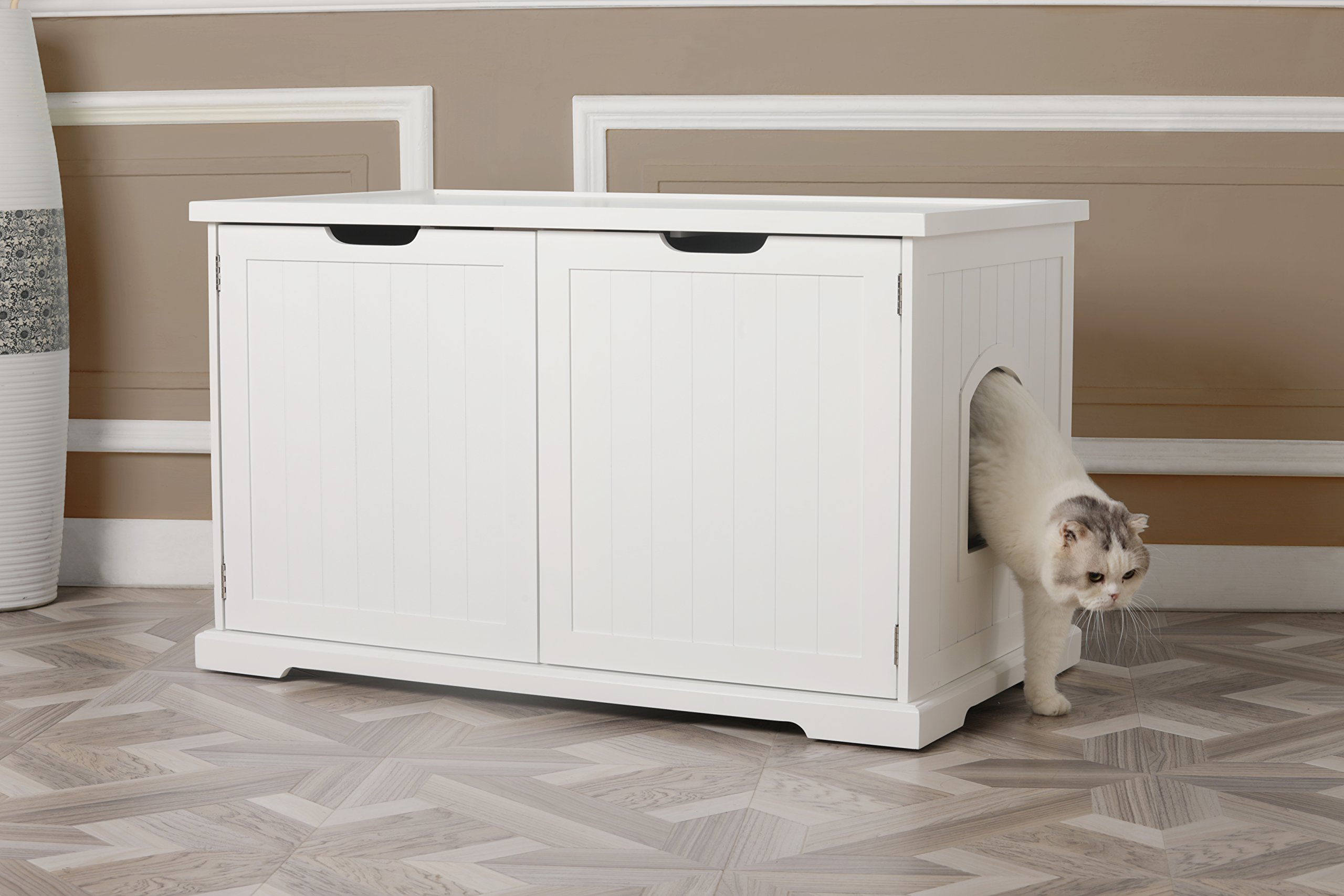 Merry Products Cat Washroom Bench, White by Merry (Image #6)