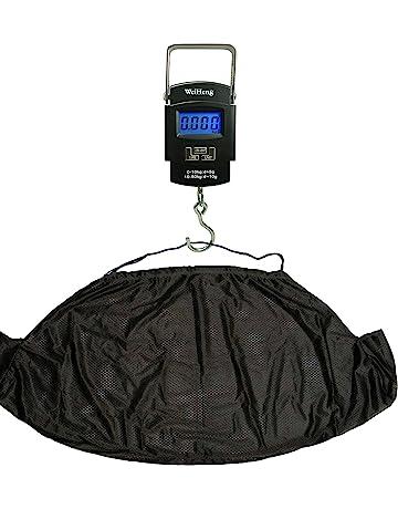 Báscula digital electrónica de pesca 50 kg y Kit de carpa eslinga NGT para pesar con