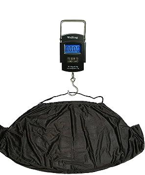 Báscula digital electrónica de pesca 50 kg y Kit de carpa eslinga NGT para pesar con gancho: Amazon.es: Deportes y aire libre