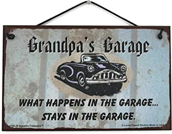 Grandads Are Like Antiques Retro Vintage Garage Metal Shed Grandparents Plaque
