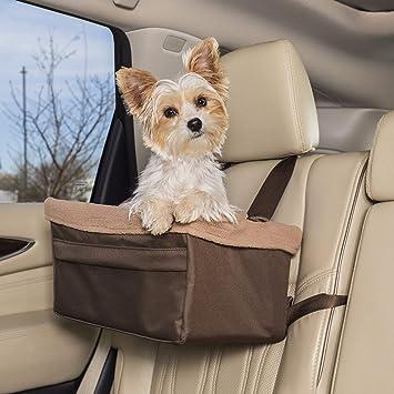 Petsafe Happy Ride Sitzerhöhung Für Hunde Für Autos Lkws Und Suvs Einfach Zu Verstellender Gurt Strapazierfähiges Fleece Innenfutter Ist Maschinenwaschbar Und Leicht Zu Reinigen Medium Braun Haustier
