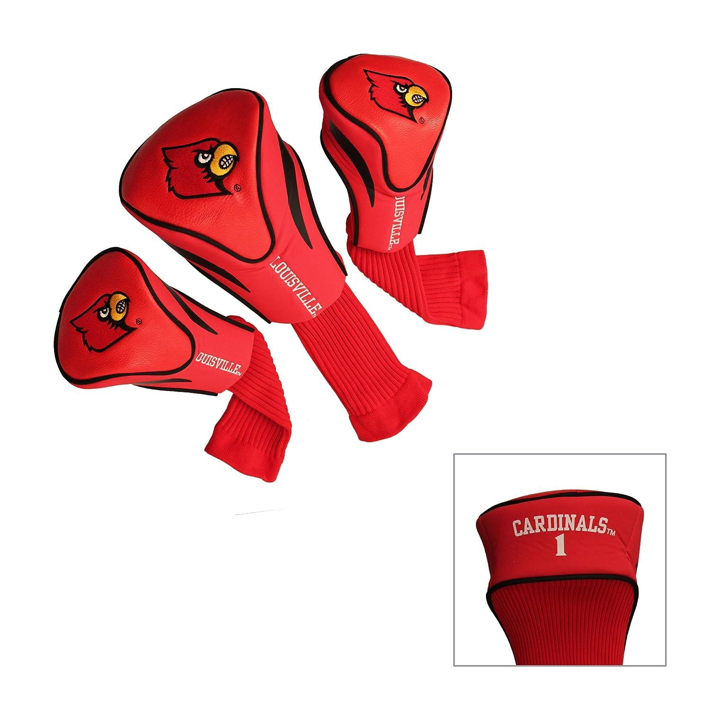 NCAA Louisville Cardinals ゴルフ輪郭ヘッドカバー 3個セット   B07HYBYN32