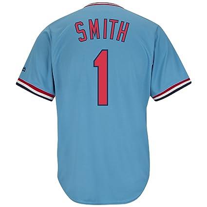 d02912740 Ozzie Smith St. Louis Cardinals Blue Cool Base Cooperstown Jersey (XXXXL)