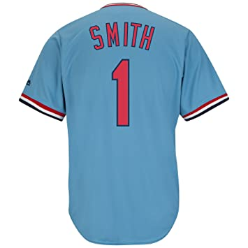 various colors f0468 6a701 Majestic Athletic Ozzie Smith St. Louis Cardinals Blue Cool Base Pullover  Cooperstown Jersey