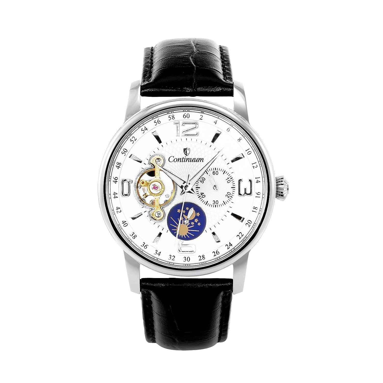 Continuum Herren-Armbanduhr Automatik Analog Leder Schwarz - C15H18