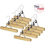 Whitmor 6026-342 Natural Wood Collection Slack Hanger, Set of 5 (Pack of 2)