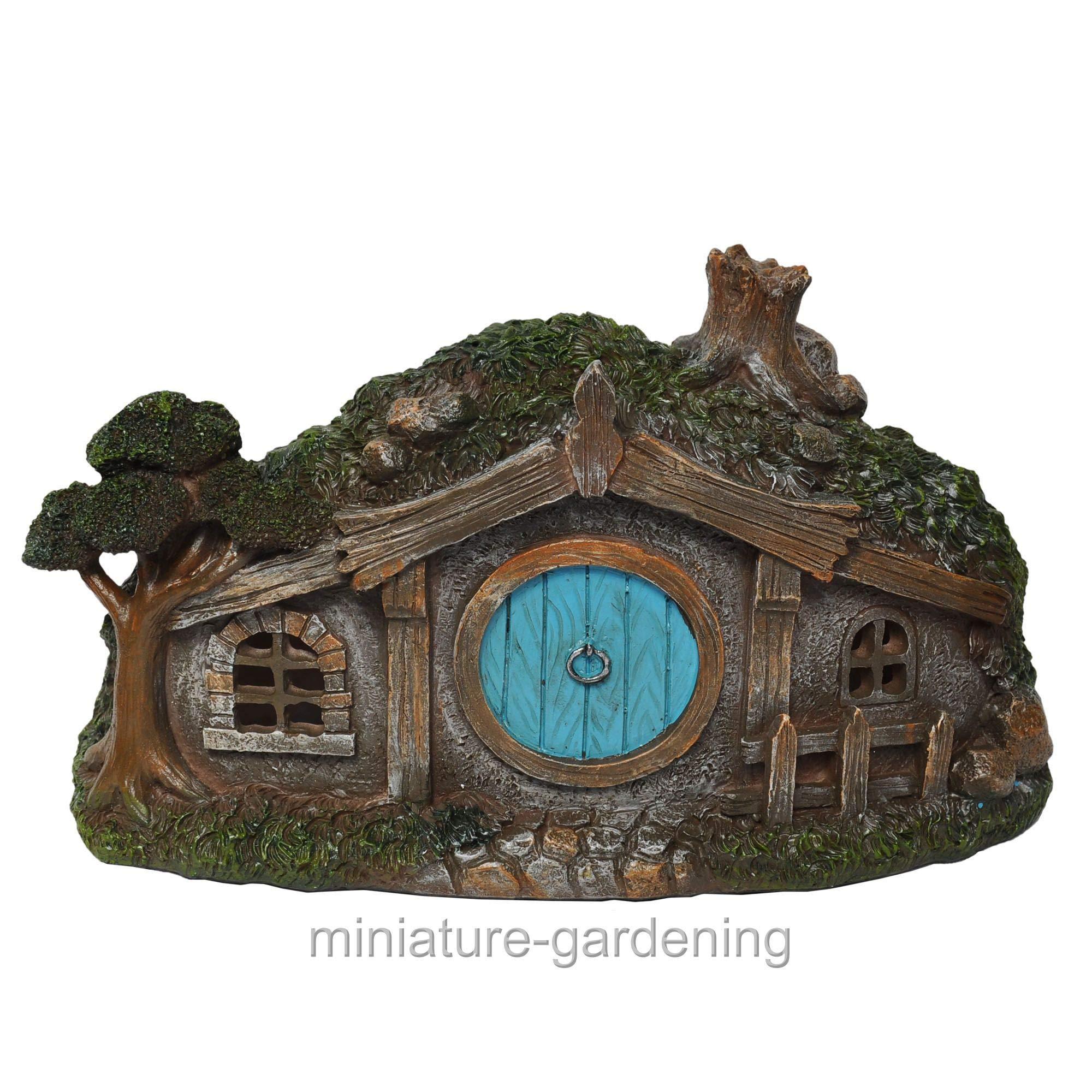 Jur_Global Fairy Garden - House with Round Door & Fence