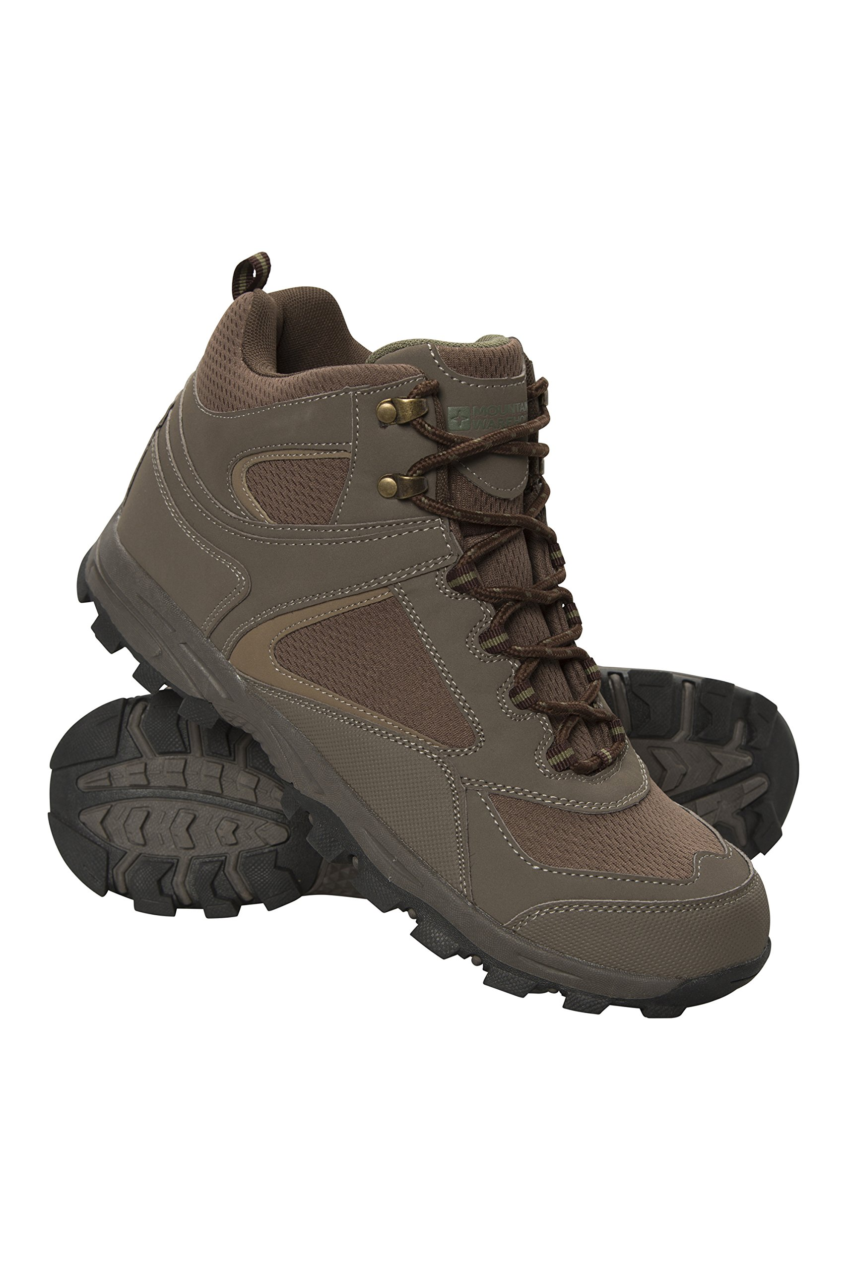Mountain Warehouse Mcleod Men's Boots - Summer Hiking Boots Khaki 8 M US Men