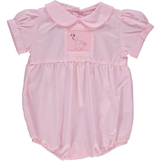 0b5fb1cea5c Amazon.com  Carriage Boutique Baby Girl Hand Smocked Bubble Romper ...