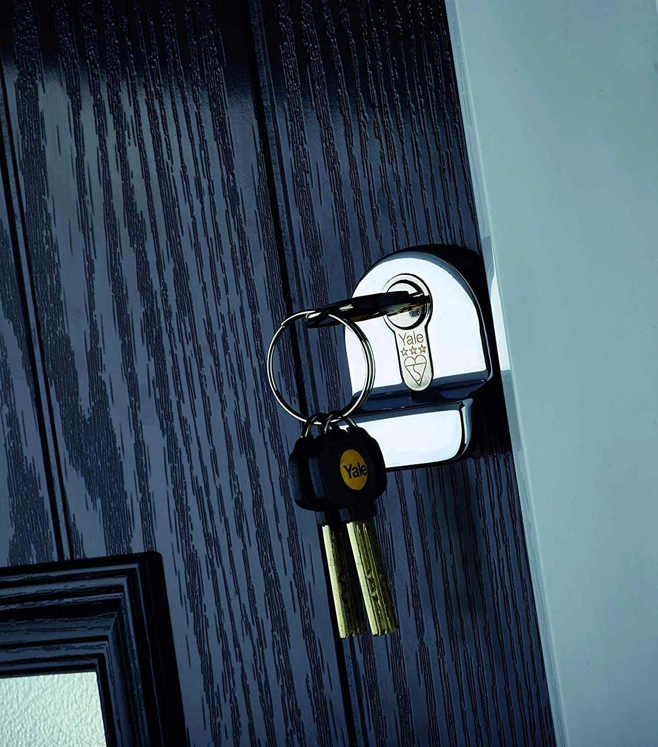 40:40 Yale P-YS3-4040B Anti-Snap 3 Star Euro Double Cylinder 80mm High Security Brass Finish