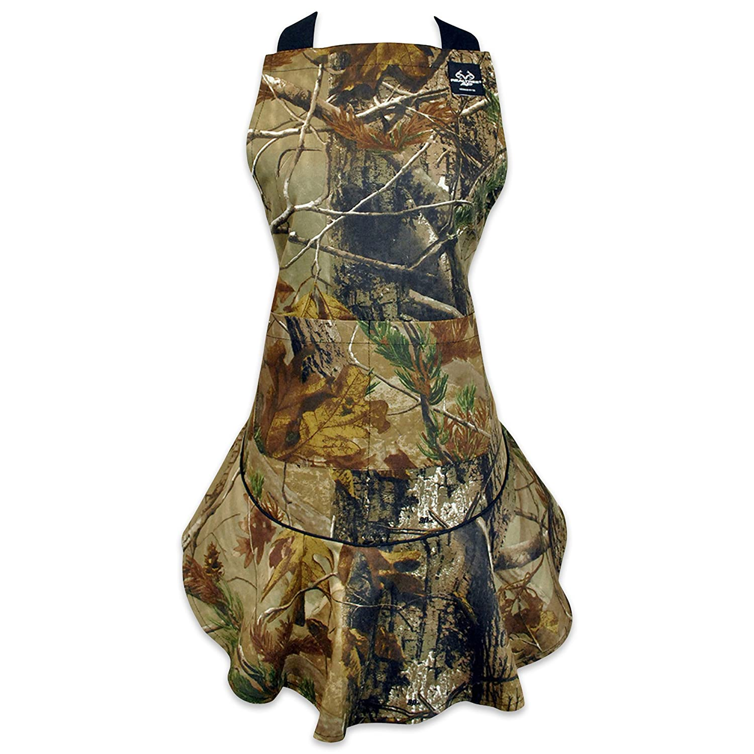 DII 100% Cotton, Machine Washable, RealTree Chef's Camo Kitchen or BBQ Apron, Perfect For Hosting, Grilling, & Father's Day Gifts - Unisex CRT32377