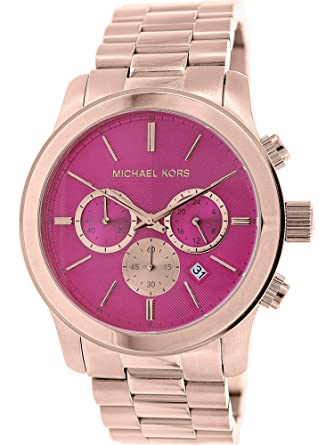 d0349858e2cc Image Unavailable. Image not available for. Color  Michael Kors Women s  Runway Rose Gold Vibrant Pink