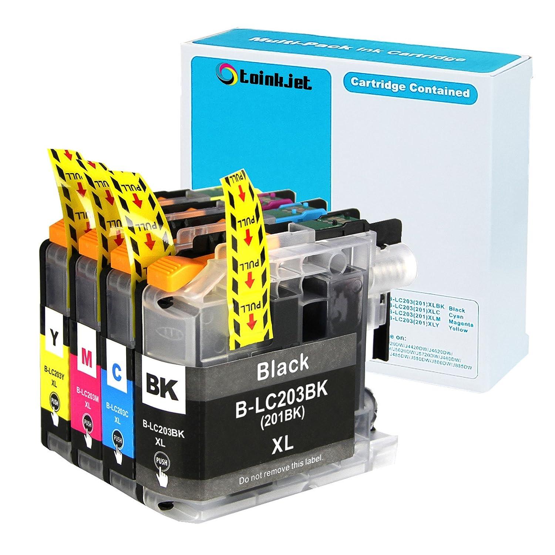 4 Pack toinkjet Compatible Cartuchos de tinta de repuesto ...