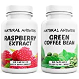 Raspberry Ketone Extract and Green Coffee Bean 800mg Fat Burner UK Made 120 Capsules by Natural Answers