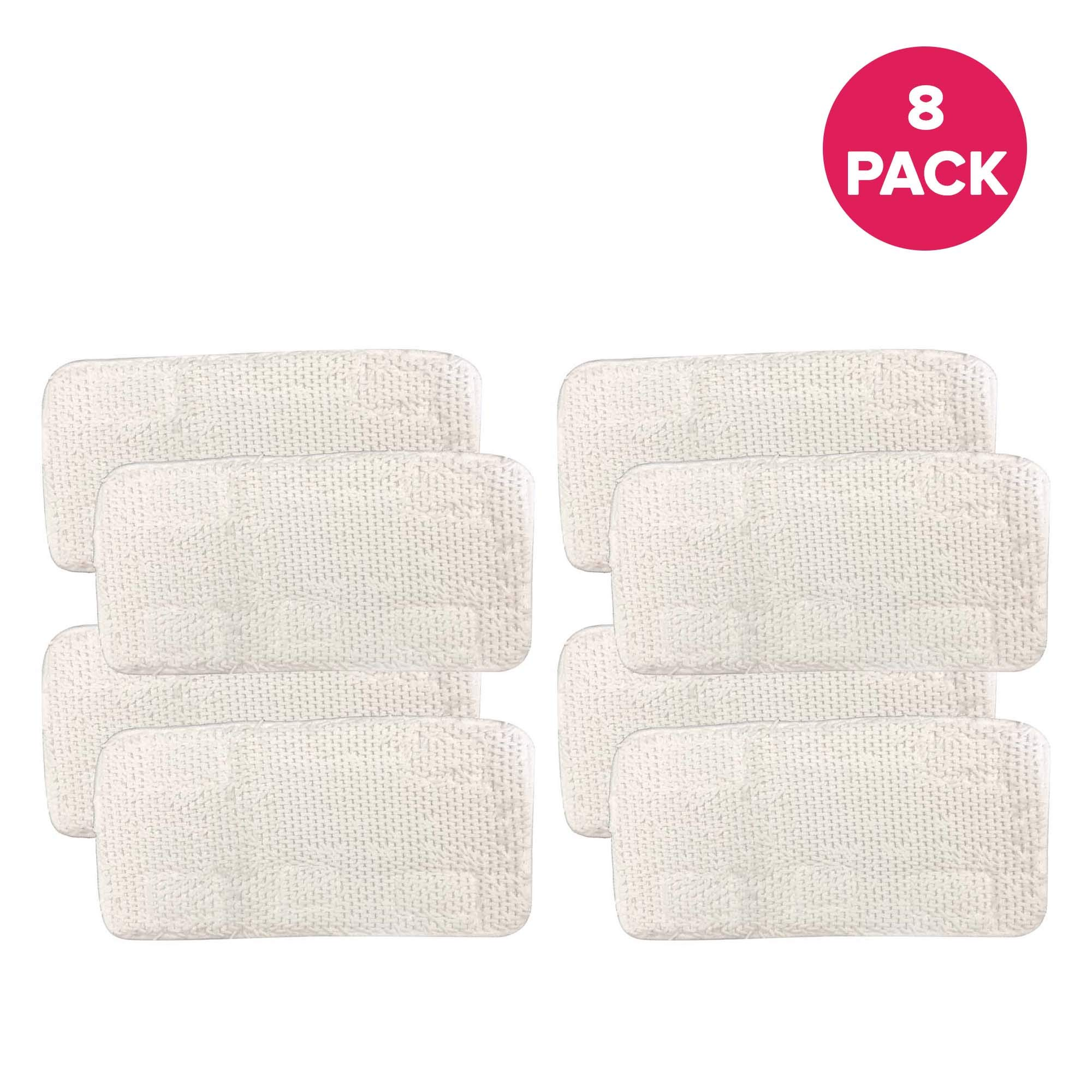 Think Crucial Replacements for Sienna Luna Steamer Head Mop Pads Fit SSM-3006-CP, Washable & Reusable (8 Pack)