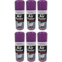 NEW 6 X 200ML COMPRESSED AIR CAN DUSTER SPRAY CAN CLEANER CLEAN & PROTECTS LAPTOP KEYBOARD ELECTRONICS 200 ML PACK SET OF 6