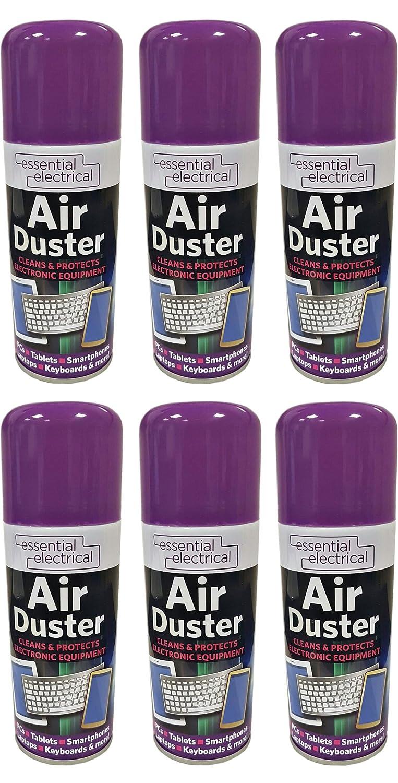 Lazer - Bomboletta spray ad aria compressa per rimuovere la polvere dalle tastiere dei computer e dagli elettrodomestici, 6 x 200 ml, confezione da 6