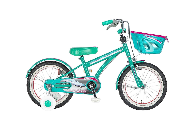 Sinanen Bike シナネンサイクル 幼児自転車 新幹線はやぶさ グリーン 特価品コーナー☆ B078K615TV 出荷 16型 18SKS160KIDSはやぶさ