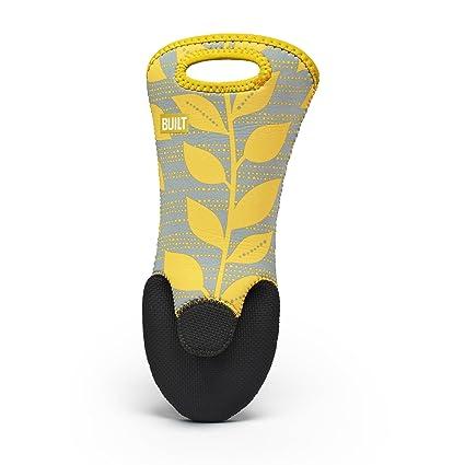 BUILT Renzo - Manopla, diseño de hojas, color amarillo y negro ...