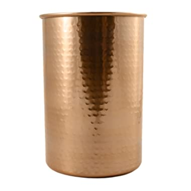 Copper Coated Kitchen Utensil Holder / 7-Inch Tool Caddy, Store All Your Wooden Spoons, Spatulas, More