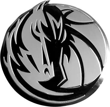 FANMATS NBA Dallas Mavericks Chrome Hitch Cover