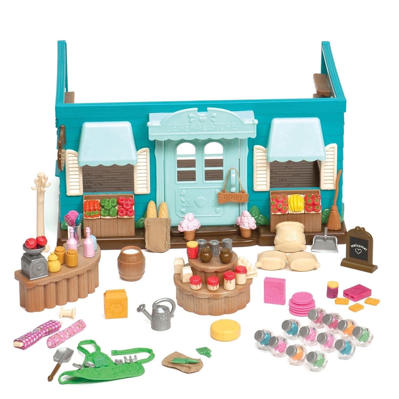 89 Pieces Branford Limited 6089M Honeysuckle Hollow General Store Lil Woodzeez Animal Figurine Playset and Accessories