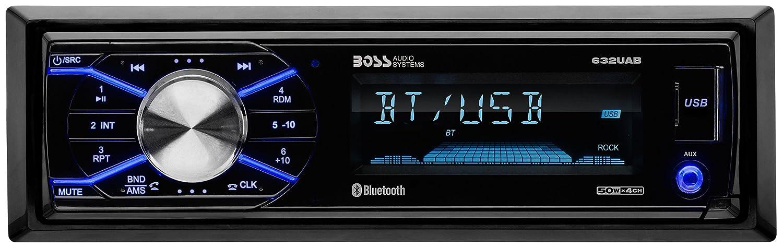 BOSS Audio 632UAB Single Din, Bluetooth, AM/FM Car Stereo