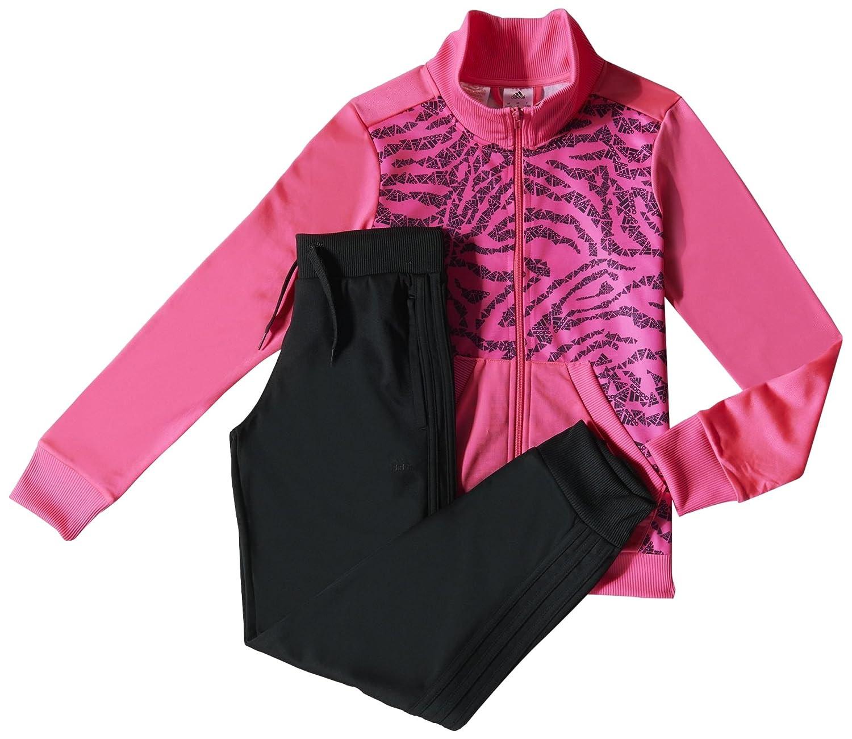 adidas YG S AOP TS CH - Chándal para niña, Color Negro/Rosa/Gris ...