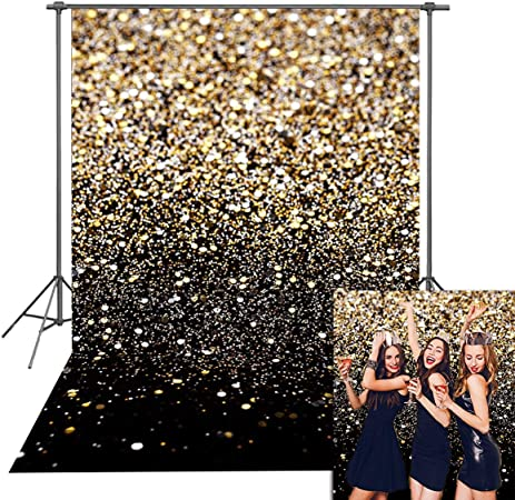 0.9X1.5M CoCocina 3X5Ft 5X7Ft Blue Sequin Shiny Photography Backdrop Background Studio Prop