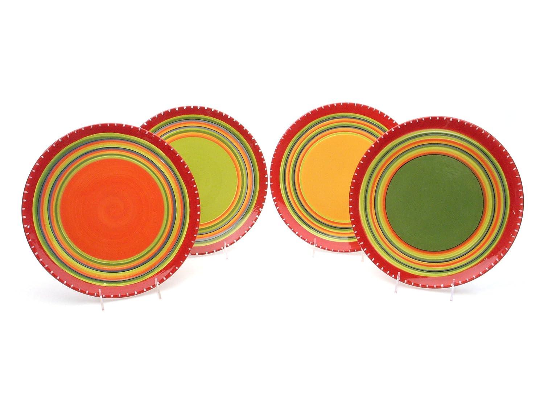 Certified International Hot Tamale Dinner Plate, Set of 4 Assorted Designs Certified International Corp 14271SET/4