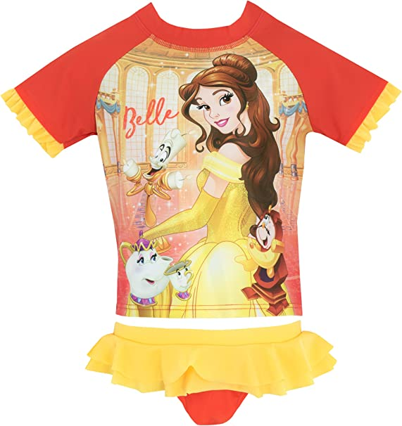 Amazon.com: Disney Girls bella y la bestia dos piezas Swim ...