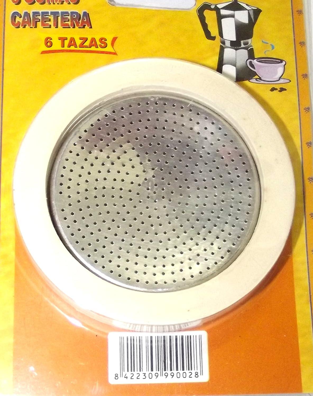 Dalper 115Y36 - Cafetera Aluminio Rec Filtro+3 Gomas: Amazon.es ...