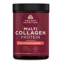 Ancient Nutrition Multi Collagen Protein Powder, Strawberry Lemonade, Formulated...
